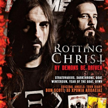 Rotting Christ dresses also February's Metal Hammer Cover
